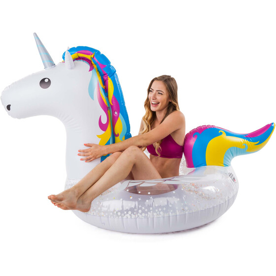 BIG MOUTH Bright Unicorn Tube Pool Float